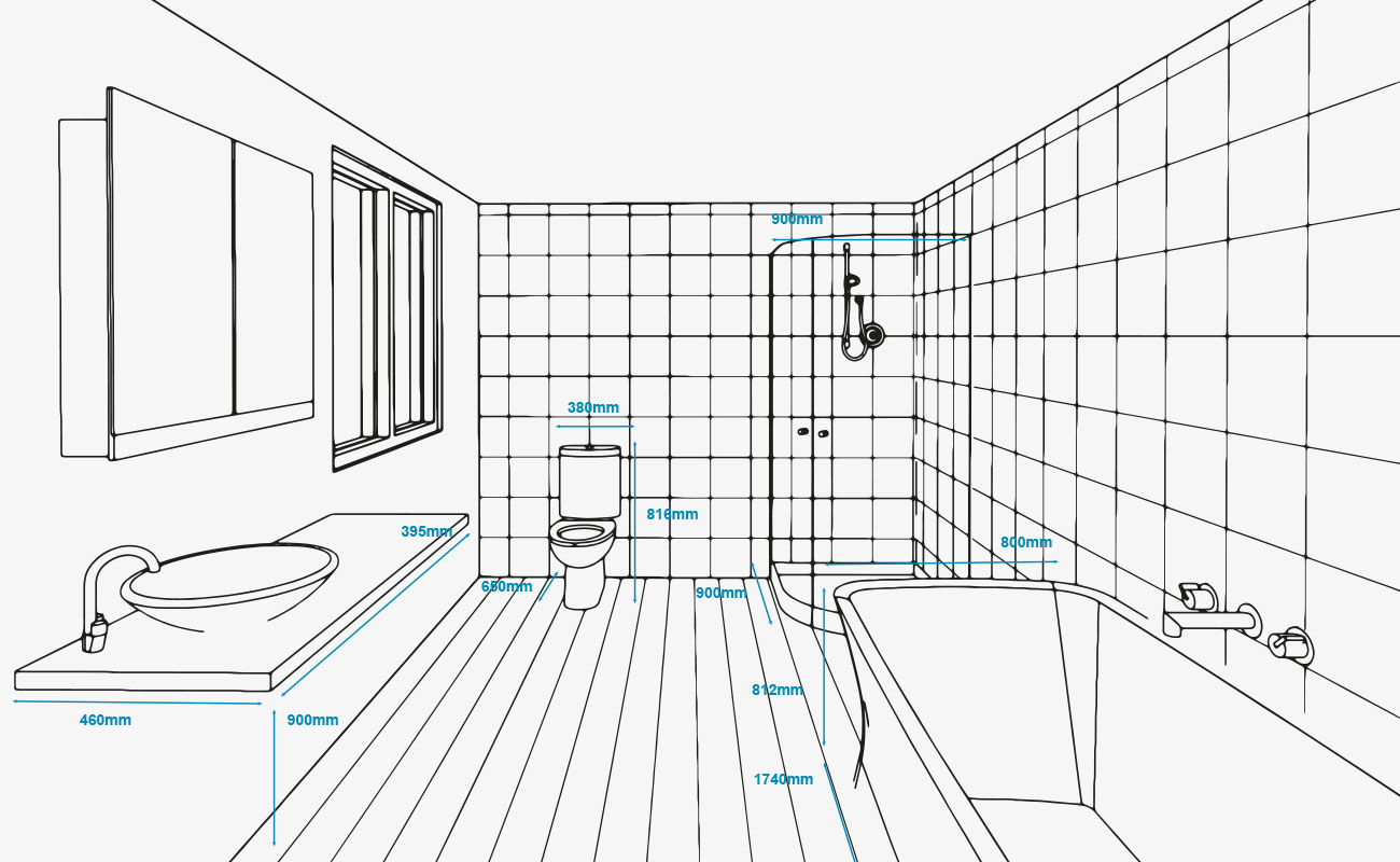 Standard bathroom measurements | Refresh Renovations